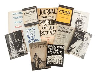 Bundle of Beat Generation books. Photo from Bidsquare.