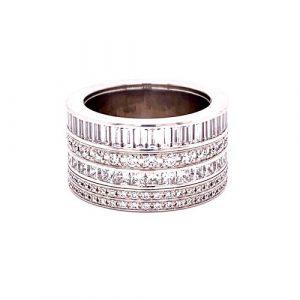 BOUCHERON Platinum Diamond Quatre Ring