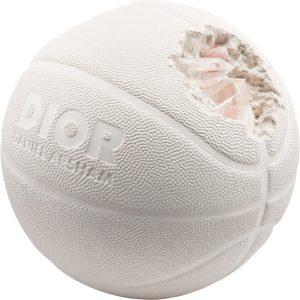 Daniel Arsham X Dior. Eroded Basketball (Dior Edition), 2020. Hydrostone and quartz crystals. 8-1-2.jpg