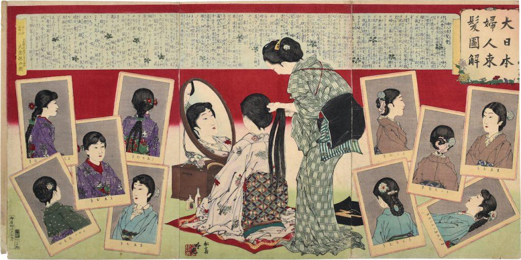 UTAGAWA HIROSHIGE Toto ryogoku yusen no zu (View of pleasure boats at Ryogoku, the Eastern capital), triptych, polychrome woodcut, Japan, c.1830 (Courtesy: Hara Shobo)
