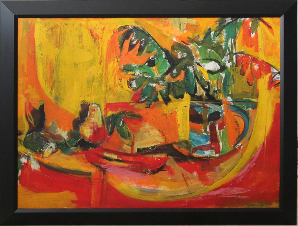 Orange, Red, Green Plant by Bernard Harmon. Photo courtesy of Gratz Gallery.