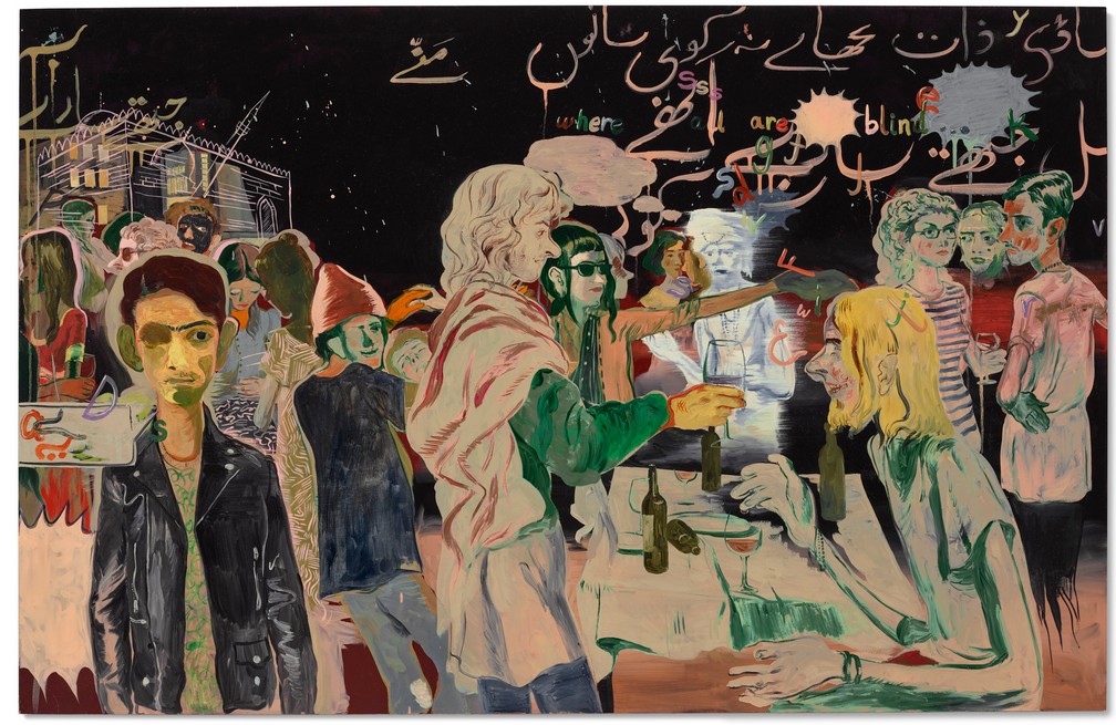 Rooftop Party With Ghosts 2 (2015) by Salman Toor Image source: Christie's