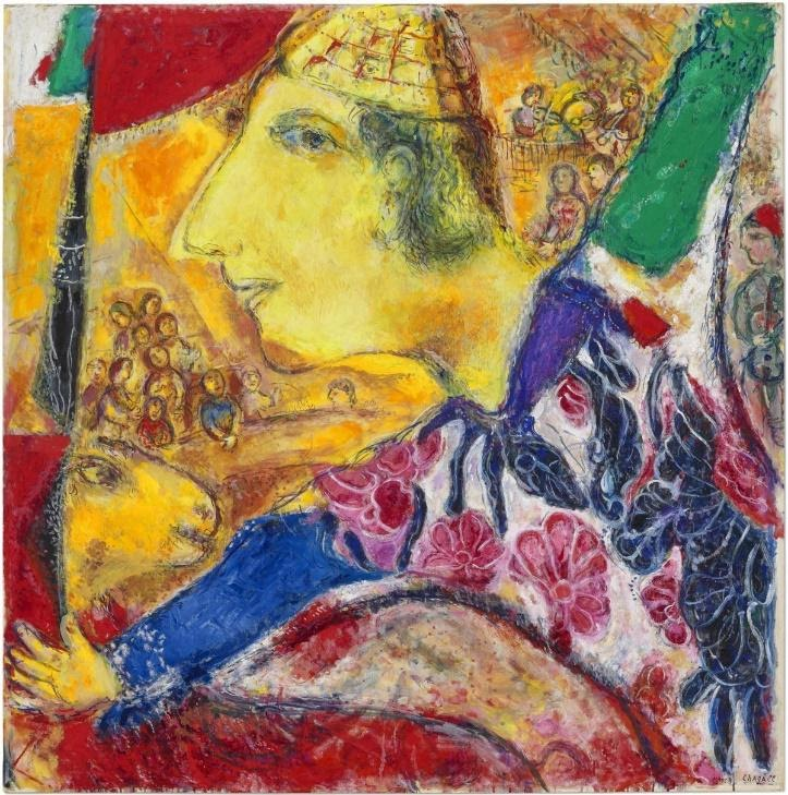 Le Rappel (1968–71) by Marc Chagall Image source: Christie's