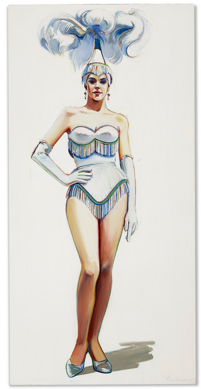 Revue Girl by (1963) by Wayne Thiebaud Image Source: Christie's