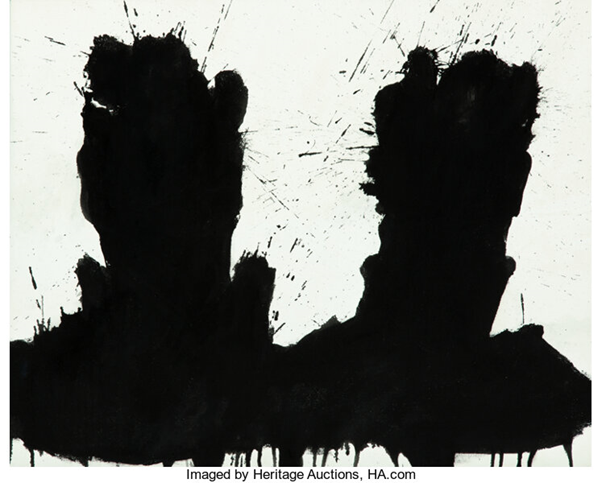 Richard A. Hambleton, Double Shadow Head Portrait, 2015. Image from Heritage Auctions.