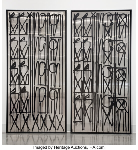 RETNA, Untitled, diptych, early 21st century. Image from Heritage Auctions.