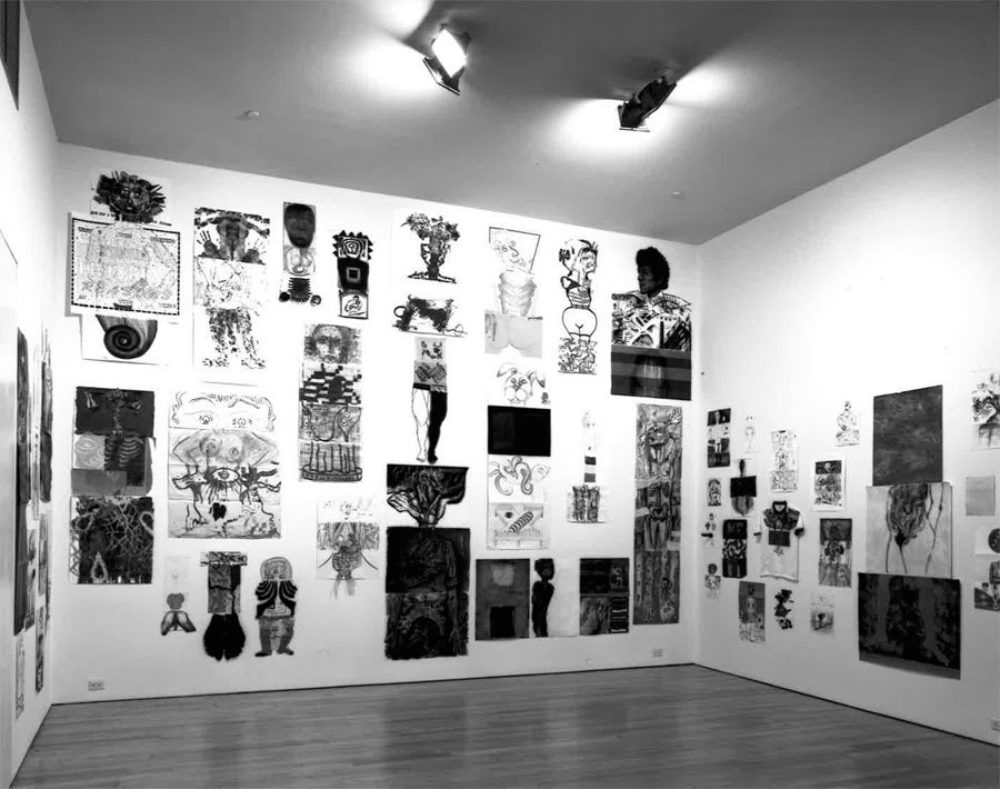 Gallery view of 'The Return of the Cadavre Exquis' at the Drawing Center. Image from the Drawing Center.