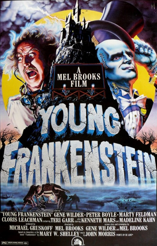 Movie poster for Young Frankenstein (1974), designed by John Alvin. Image from Borg.