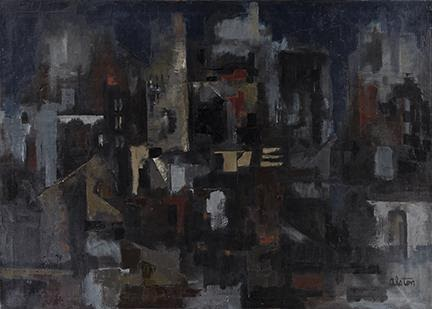 Charles Alston, City at Night, oil on canvas, circa 1956–60. Estimate $100,000 to $150,000.