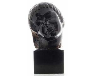 Stepan Erzia Carved Hardwood Bust On Marble Base