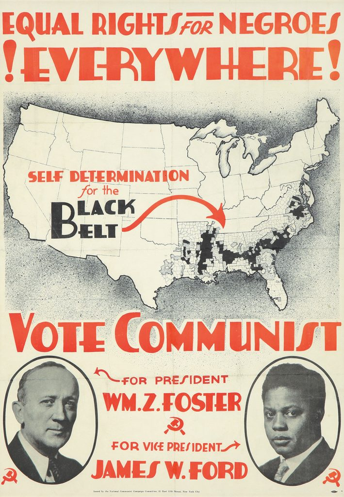 Anonymous, Equal Rights for Negroes / Vote Communist, 1932 ($24,000).