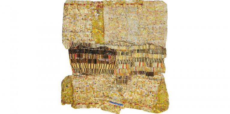 Gold Band by El Anatsui. Image from Phillips.