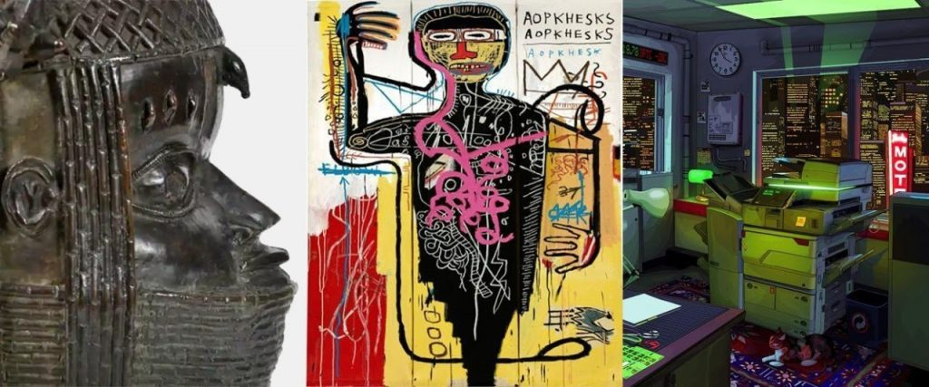 Images from around the auction world this month. Photo credit from left to right: University of Aberdeen, Sotheby's, and Phillips. Collage by Pranit Dubey (Auction Daily).