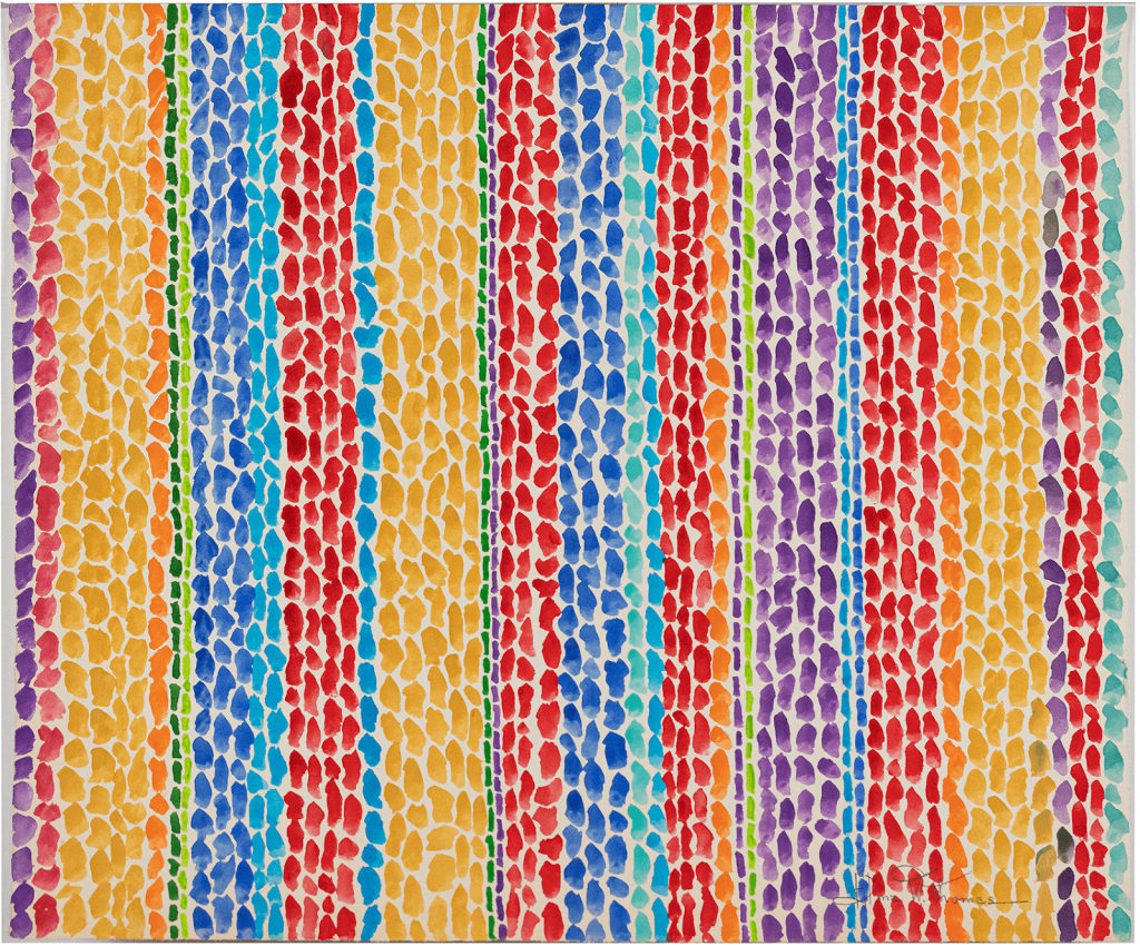 An untitled watercolor by Alma Thomas. Photo from Treadway.