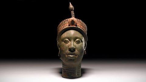 Bronze Head from Ife. Image from the British Museum.