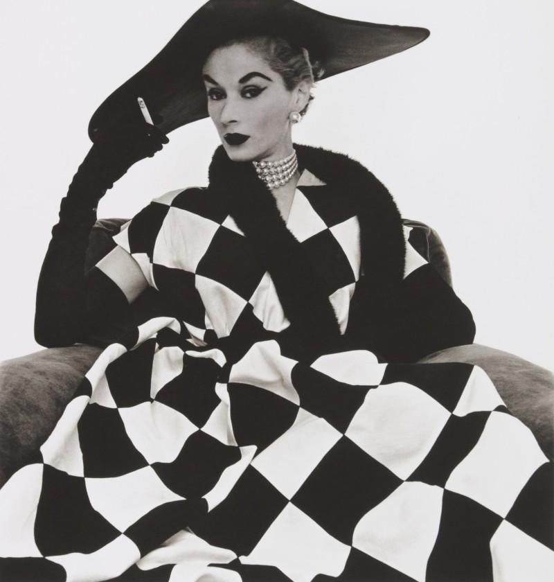 Irving Penn, Harlequin Dress, 1950. Image from Sotheby's.