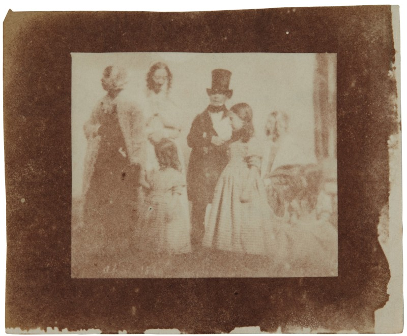 Family photograph from William Henry Fox Talbot's collection. Image from Sotheby's.