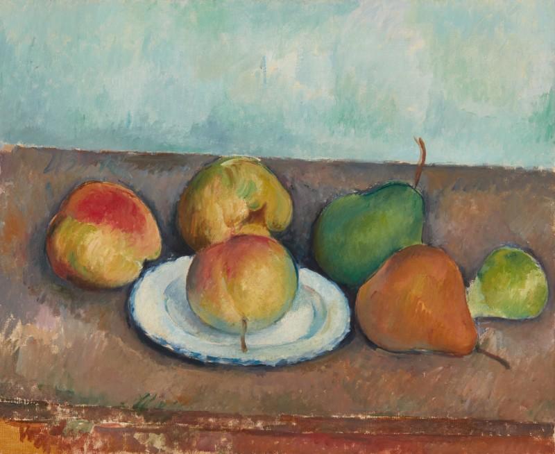 Paul Cézanne, Nature morte: pommes et poires. Image from Sotheby's.