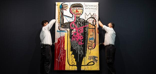 Jean-michel Basquiat, Versus Medici, 1982. Estimate: $35,000,000 – $50,000,000. Image from Sotheby's.