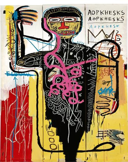Jean-Michel Basquiat (1960-1988), Versus Medici. Image from Sotheby's.