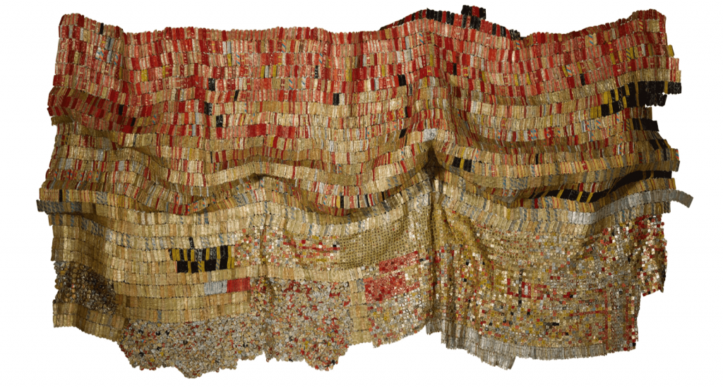 El Anatsui, Vumedi, 2005. Image from Sotheby's.