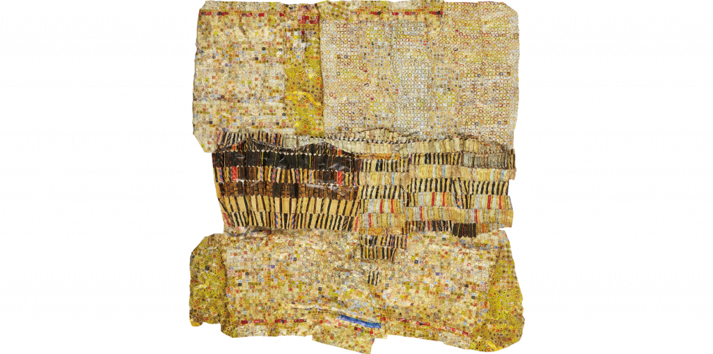 El Anatsui, Gold Band, 2020. Image from Phillips.
