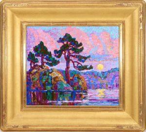 BIRGER SANDZEN (1871-1954) OIL ON ARTIST'S BOARD 1925