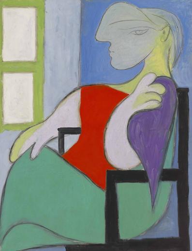 Pablo Picasso, Femme assise près d'une fenêtre (Marie-Thérèse). Image from Christie's.