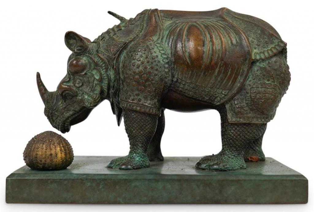 Salvador Dalí bronze rhinoceros. Photo from Akiba Antiques.