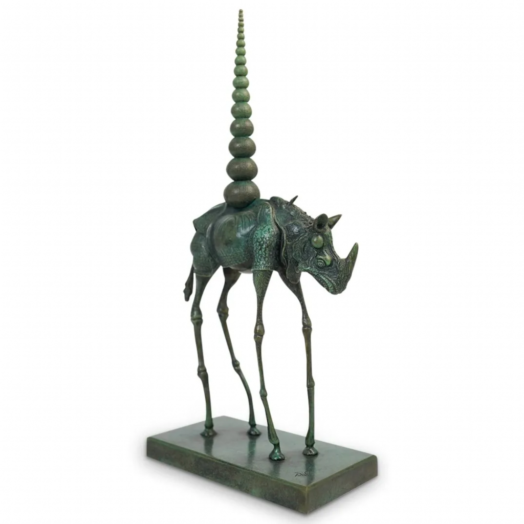 Rhinoceros Cosmique by Salvador Dalí. Photo from Akiba Antiques.
