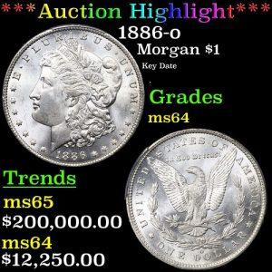 PCGS 1886-o Morgan Dollar $1 Graded ms64 By PCGS (fc)