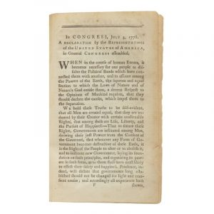 The Declaration of Independence | The first book-form printing of the Declaration of Independence