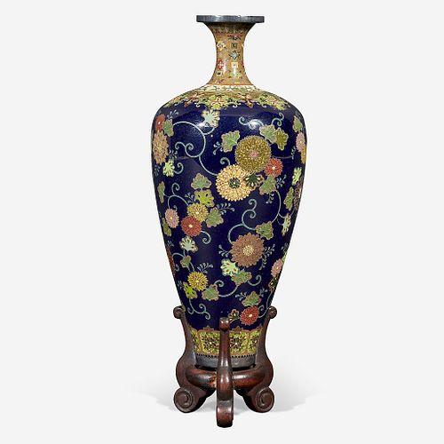 Japanese Cloisonné Enamel Cabinet Vase, Namikawa Studio. $10,000-$15,000