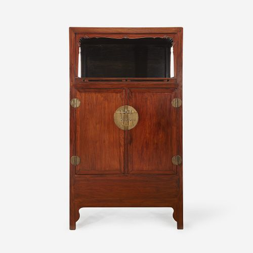 Chinese Huanghuali and Hardwood Display Cabinet, 19th to 20th Century. Estimate $20,000-$30,000