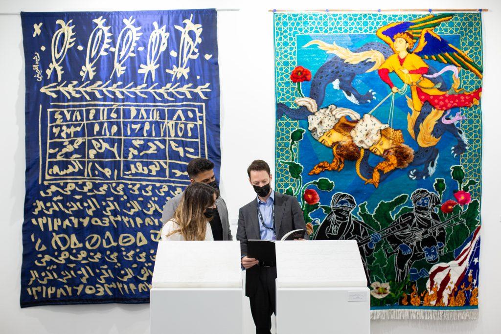 Aicon Art Gallery at Art Dubai 2021. Image courtesy of Art Dubai.