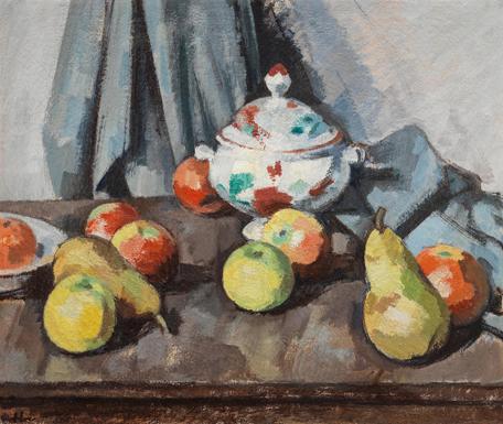 Samuel John Peploe (1871-1935), Still Life with Tureen and Fruit, 1926. Photo from Bonhams.