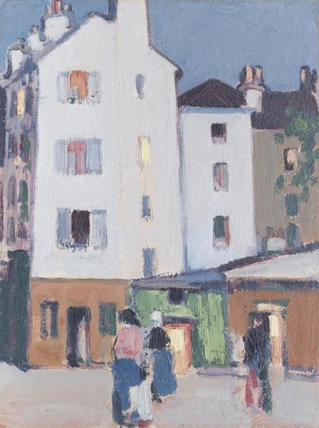 John Duncan Fergusson RBA (1874-1961), Paris street scene, 1908. Photo from Bonhams.