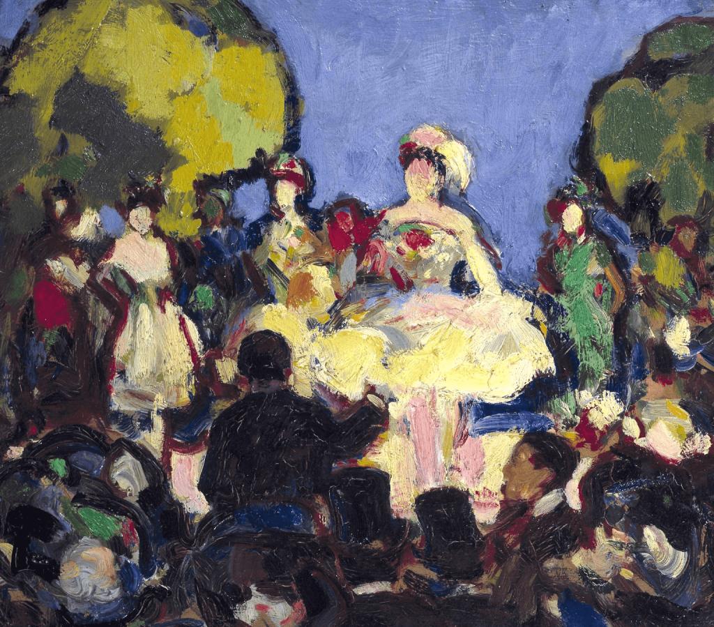 John Duncan Fergusson RBA (1874-1961), Café-Concert des Ambassadeurs, 1907. Photo from Bonhams.