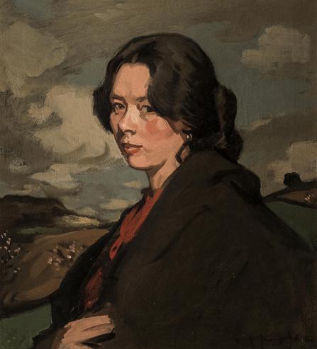 Samuel John Peploe (1871-1935), Gypsy in a Landscape, 1900. Photo from Bonhams.