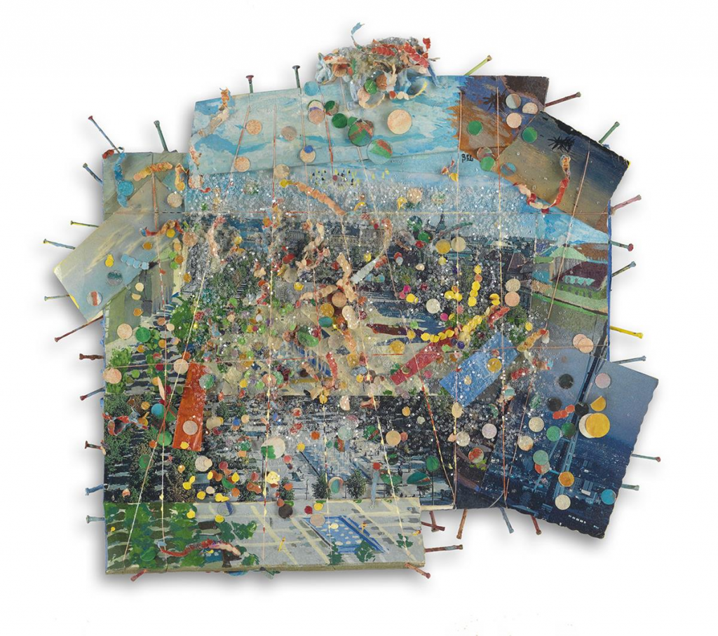 Howardena Pindell, Untitled #1, 1980-81. Image from Swann Galleries.