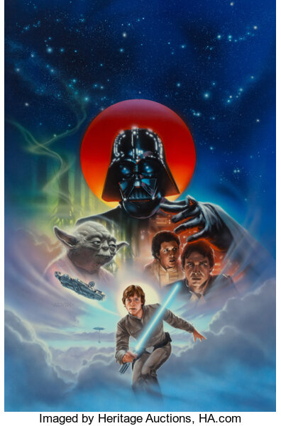 Star Wars: The Empire Strikes Back video cover designed by John Alvin. Image from Heritage Auctions.