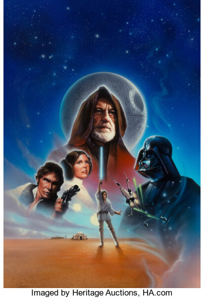 Star Wars: A New Hope video cover designed by John Alvin. Image from Heritage Auctions.