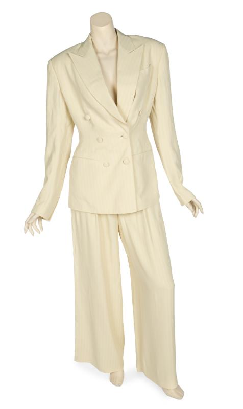 Pantsuit and shoes worn by Janet Jackson to the 1994 Academy Awards. Photo by Julien's Auctions.