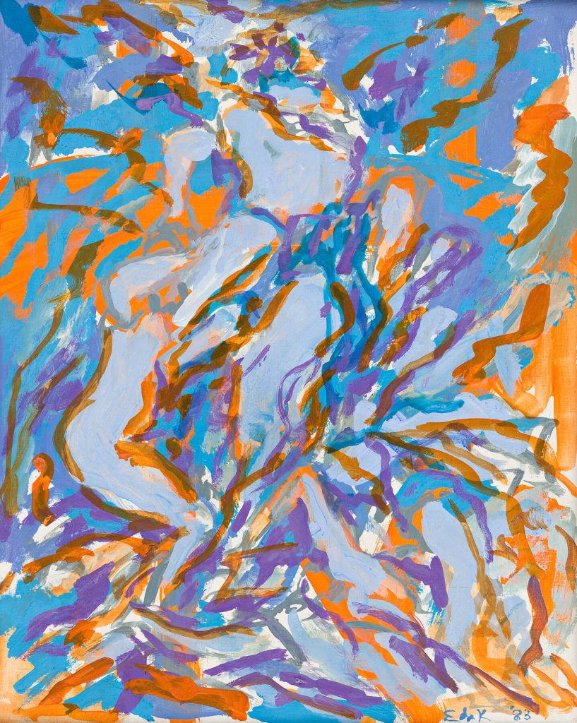 Elaine de Kooning, Bacchus, acrylic on panel, 1983. Estimate $10,000 to $15,000.