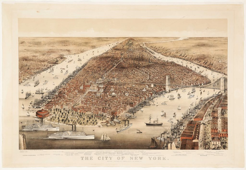 Currier & Ives, City Of New York, The Bird's Eye View From The South, estimate: $5000-8000