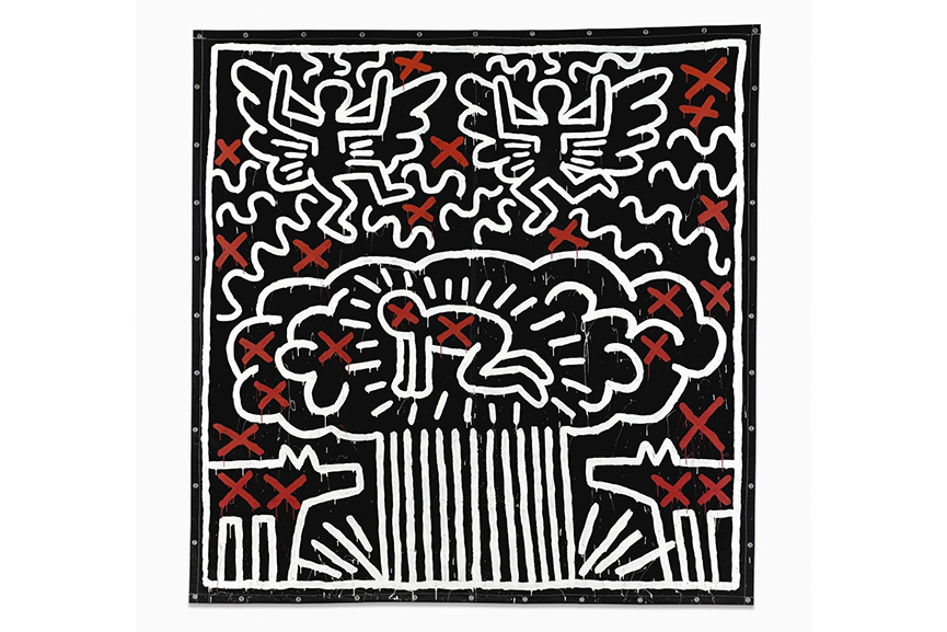 Keith Haring, Untitled, 1982. Image from Widewalls.