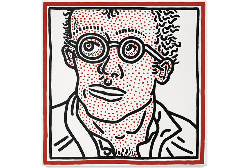 Keith Haring, Self-Portrait For Tony,1985. Image from Widewalls.