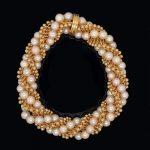 1950Õs VCA Paris 18k Pearl Twist Bracelet