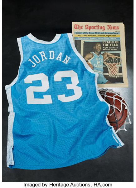 "1982-83 Michael Jordan Game Worn University of North Carolina Tar Heels Jersey from First ""NCAA Player of the Year"""