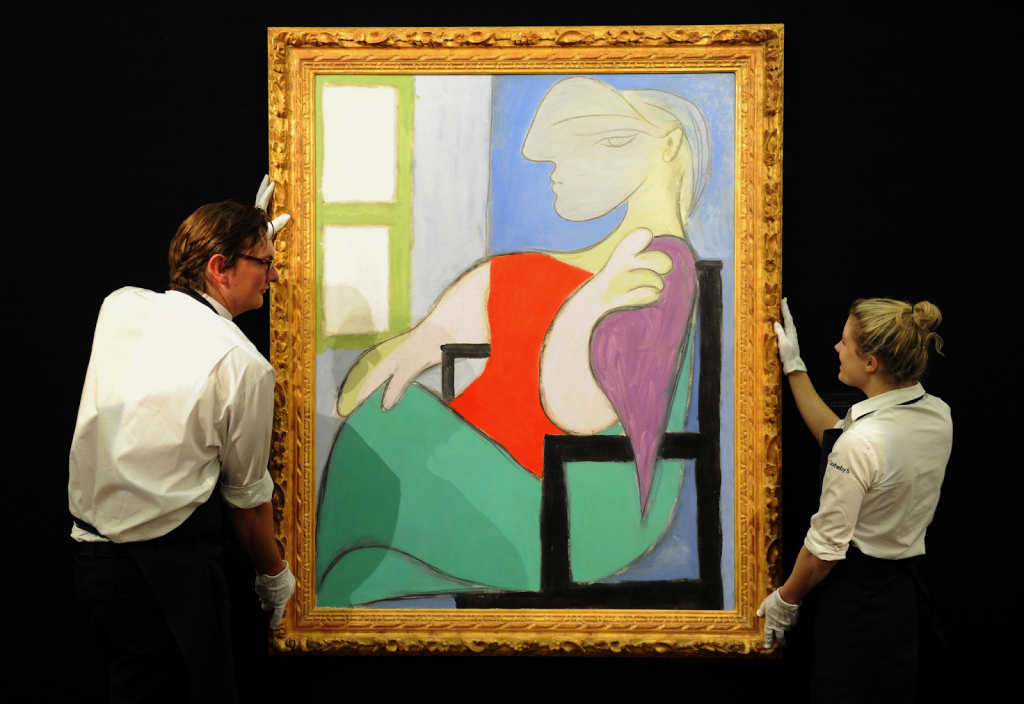 Pablo Picasso, Femme assise près d'une fenêtre (Marie-Thérèse). Image from Anthony Devlin/PA Wire.